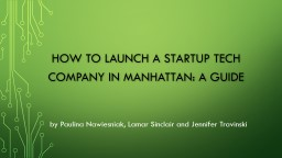 How to launch a startup tech company in
