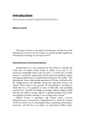 Introduction Disenchantment and Integrative Postmodern