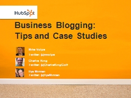 Business Blogging: Tips and Case Studies