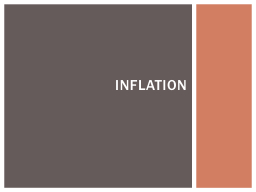 Inflation An increase in the economy's price level