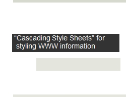 """Cascading Style Sheets"" for"
