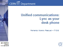 Unified communications: Lync as your