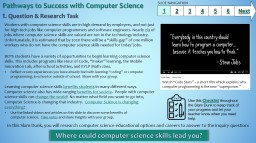 Pathways to Success with Computer Science