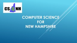 COMPUTER SCIENCE FOR NEW HAMPSHIRE