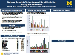 National Trends in Technology and Social Media Use