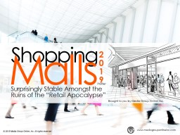 A Strong Shopping Mall Market Requires a Strong Economy