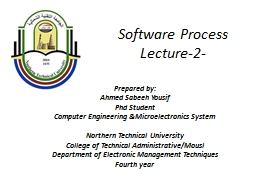 Software  Process Lecture-2-