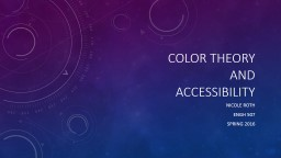 Color Theory  and  Accessibility