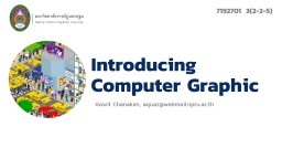 Introducing Computer Graphic