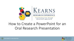 How to Create a PowerPoint for an Oral Research Presentation