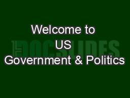 Welcome to US Government & Politics