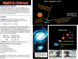 Math in Science Space exploration benefits society.