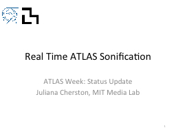 Real Time ATLAS Sonification