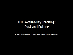 2 1.    LHC Physics in Context of Availability