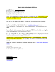 March   Email with NBC News  Message  From Monica Alba
