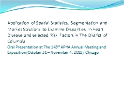 Application of Spatial Statistics, Segmentation and Market Solutions to Examine Disparities in Hear