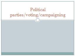 Political parties/voting/campaigning