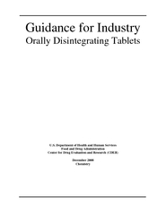 Guidance for Industry Orally Disintegrating Tablets U