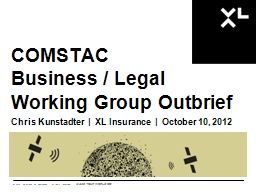 COMSTAC Business / Legal