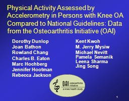 Physical Activity Assessed by