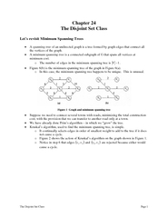 The Disjoint Set Class Page  Chapter  The Disjoint Set