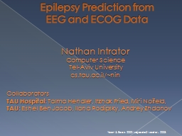 Epilepsy Prediction from