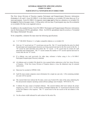 GENERAL DISKETTE SPECIFICATIONS FORM NJC PARTICIPANT