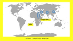 The First Civilizations in the World
