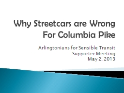 Why Streetcars are Wrong