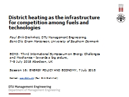 District heating as the infrastructure for competition among fuels and
