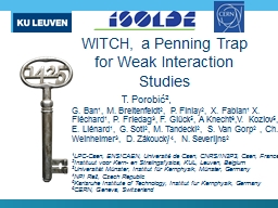 WITCH,  a  Penning Trap for Weak Interaction Studies