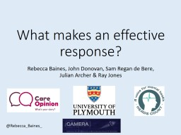 What makes an effective response?