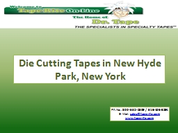Die Cutting Tapes in New