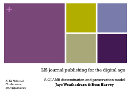 LIS journal publishing for the digital age
