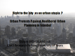 Right to the city as an urban utopia ?