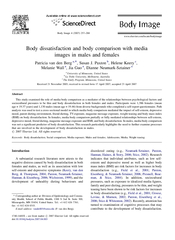 Body dissatisfaction and body comparison with media im