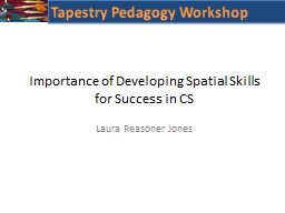 Importance of Developing Spatial Skills for Success in CS