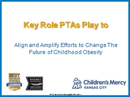Align and Amplify Efforts to Change The Future of Childhood Obesity