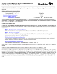 INSTRUCTIONS FOR FILING ARTICLES OF DISSOLUTION QGHUKH