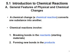 1 5.1  Introduction to Chemical Reactions