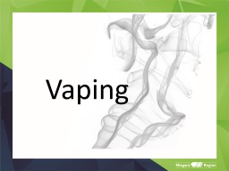 Vaping     What is an electronic cigarette?