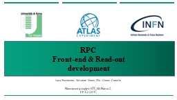 RPC  Front-end & Read-out