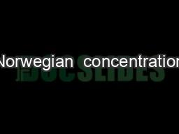 Norwegian  concentration