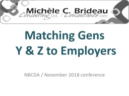 Matching Gens  Y & Z to Employers
