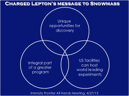 Charged Lepton's message to Snowmass