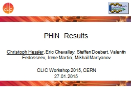 PHIN Results Christoph