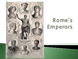 Rome's  Emperors What changes did Augustus introduce?