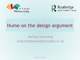 Hume on  t he design argument