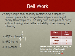Bell Work Ashley's  large pack of