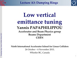 Low vertical  emittance tuning